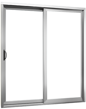 White PVC patio door