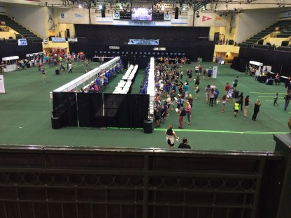 This was the 5K packet pickup area.