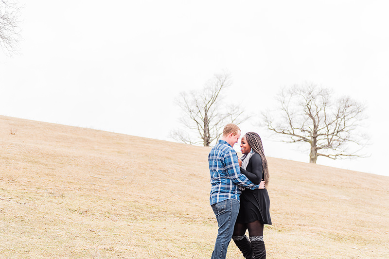 beautiful winter engagement photos at The barn at Gibbet Hill Q Hegarty Photography wedding photographer Groton, MA