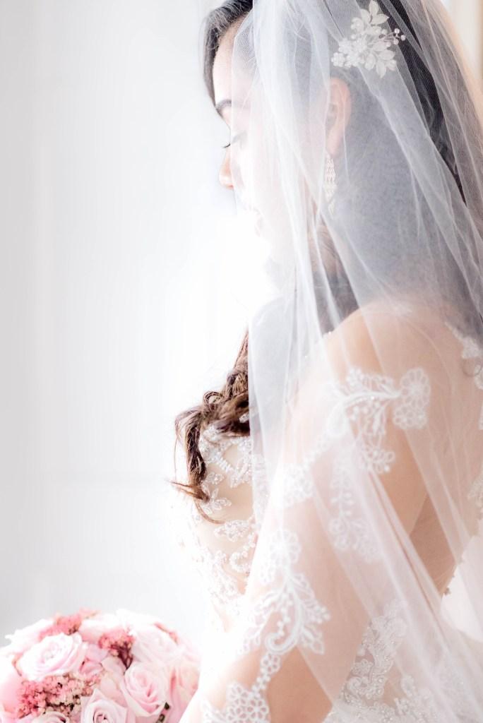 urban wedding, Boston wedding, Boston wedding photographer, wedding photographer near Gibbet Hill Groton, MA, Veil, long sleeve bridal dress