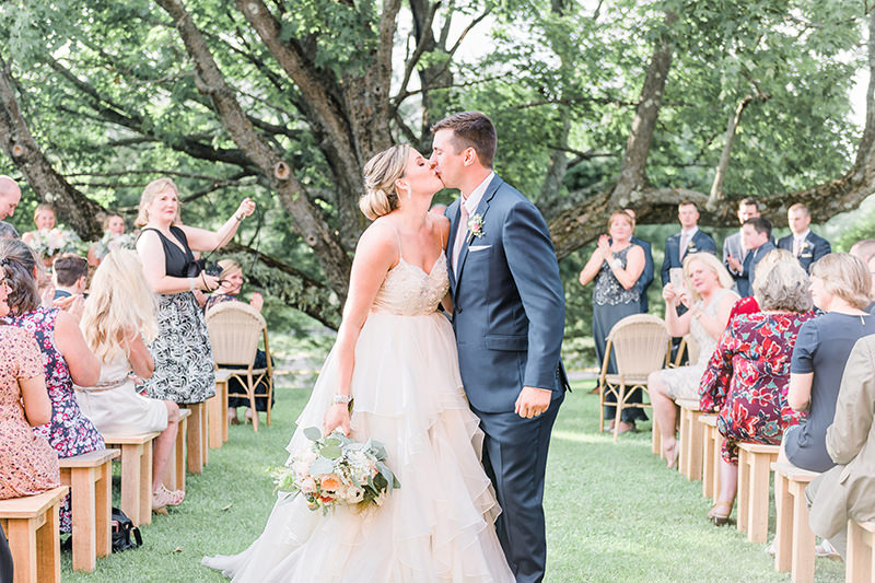 beautiful blush summer wedding in ME Q Hegarty Photography wedding photographer near Groton, MA