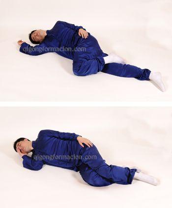Daoyin, prácticas Qigong tumbado.