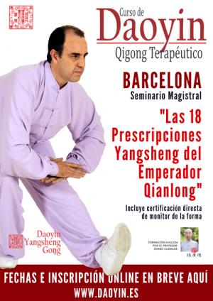 Cursos de yangsheng en Barcelona - Octubre 2019