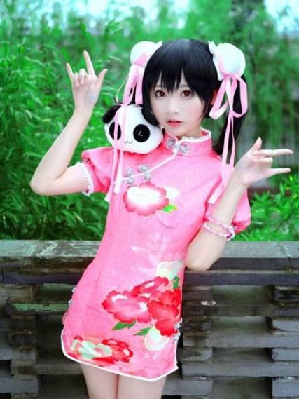 旗袍の小柔SeeUさん:旗袍未覚醒バージョン。via #lovelive!# #矢泽妮可cos# #旗袍未觉醒VER... 来自小柔SeeU - 微博