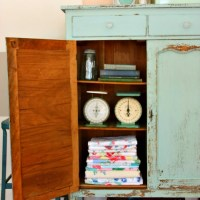 another chippy farmhouse cupboard.