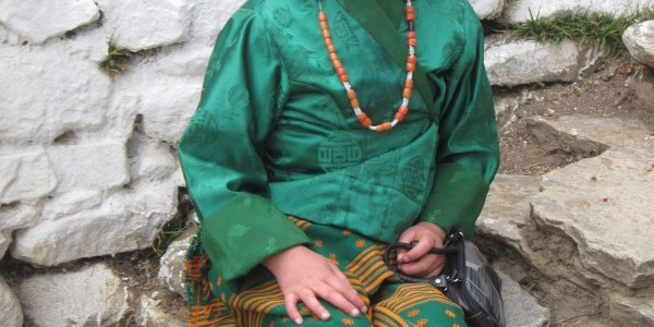 Bhutanese Girl in Kira