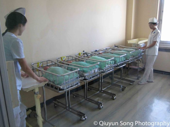 Nursery at Pyongyang Maternity Hospital