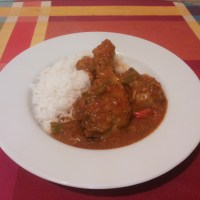 Curry de pollo pukka.