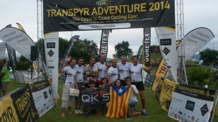 transpyr finishers 2014 hondarribia QKs estelada bandera catalunya