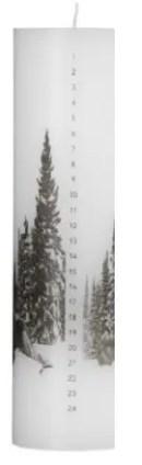 kalenderlys-stort-med motiv-by-nord-forfra