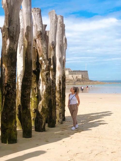 Tidevandet i Saint-Malo stiger og falder med 12 meter i gennemsnit.