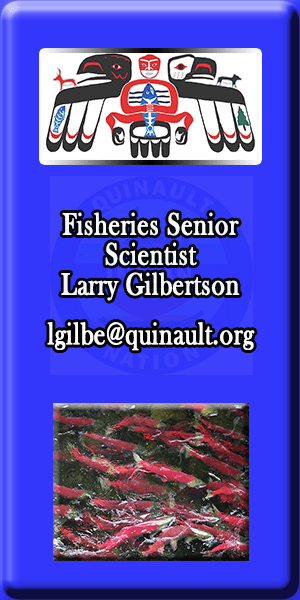 Quinault Department of Natural Resources Senior Scientist Larry Gilbertson
