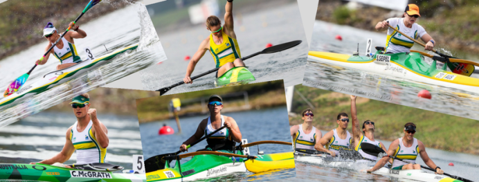 Australian Canoe Sprint team 2017 World Champs