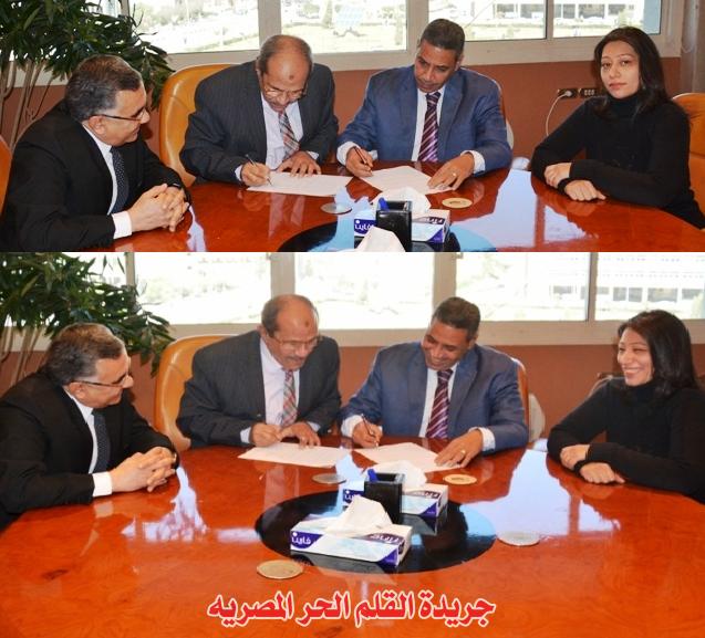 عاجل /  بالصور : بروتوكول تعاون بين جامعة الفيوم ومؤسسة القلم الحر