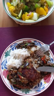 Braised chicken with eggplant