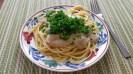 Spaghetti with walnut sauce