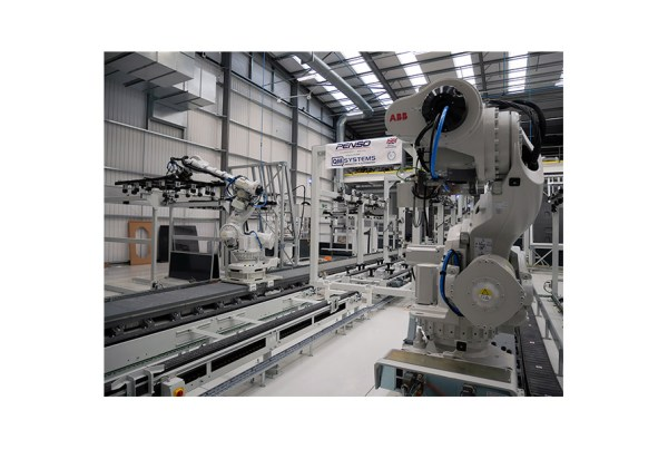 QM Systems Body-in-White Robotic Assembly Line zoom out view