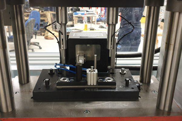 QM Systems bespoke hydraulic presses inside area