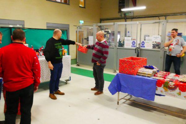 QM System merry christmas staff enjoying