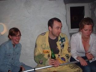 Ullis, Johan och Sofi med ett skaft