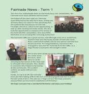 Fairtrade newsletter term 1