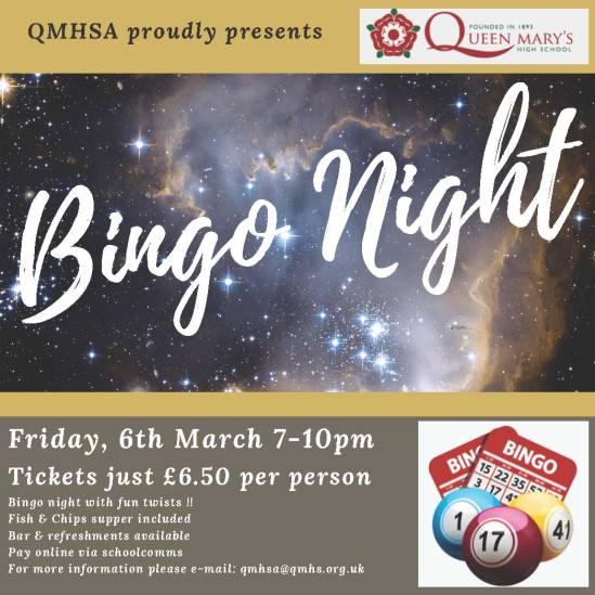 GQMHS Bingo Night - 6th March v2