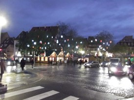 One of the many Christmas markets in Strasbourg.