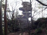 The fairies' chimney. Sculpted by erosion, not fairies. Sorry.