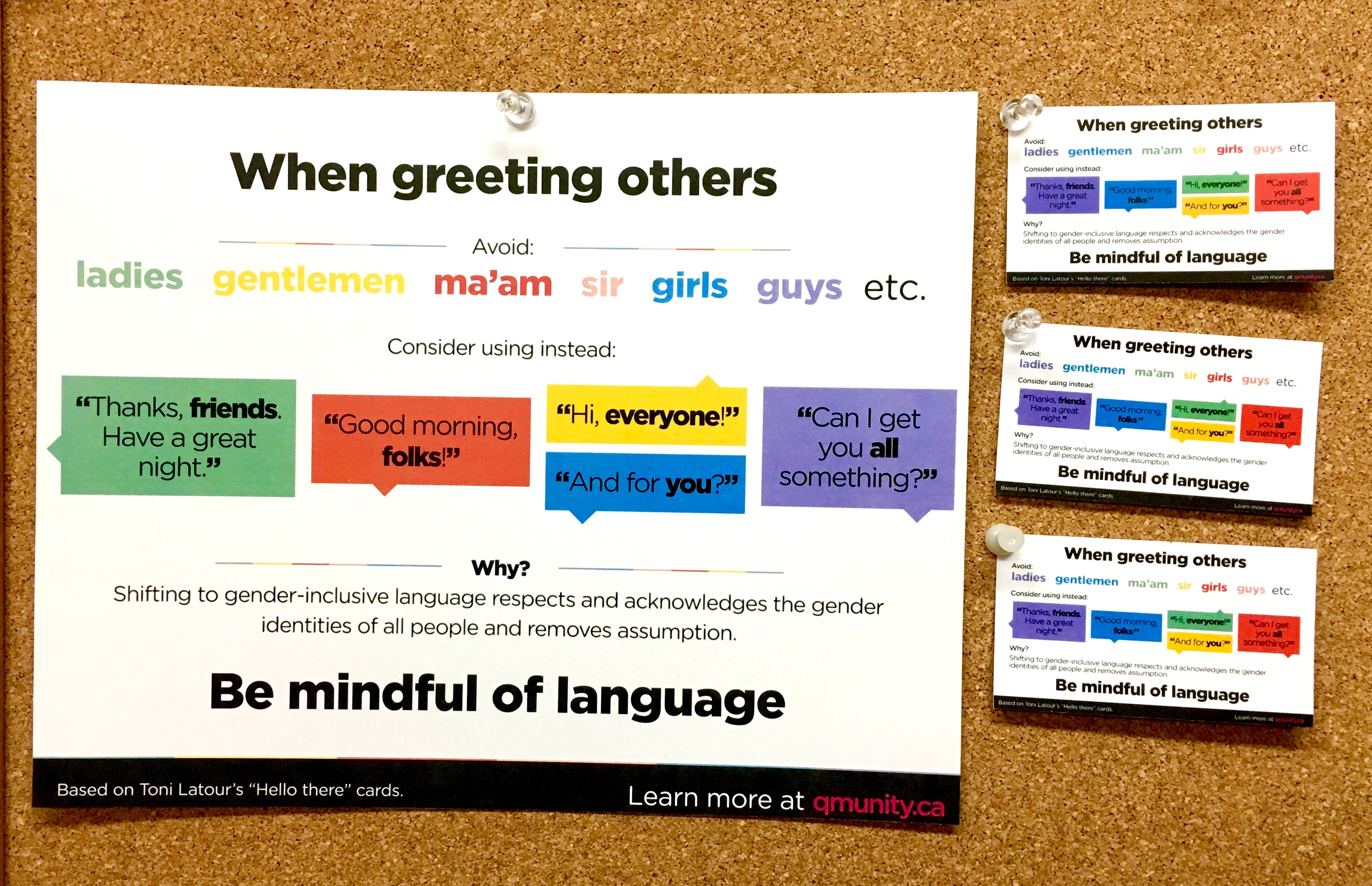 Gender Inclusive Language Sheet