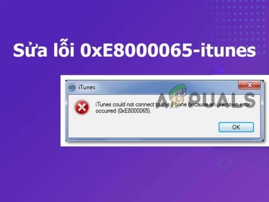 Sửa lỗi 0xE8000065-itunes