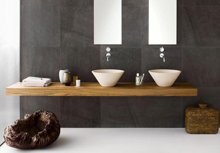 minimal double sink contemporary
