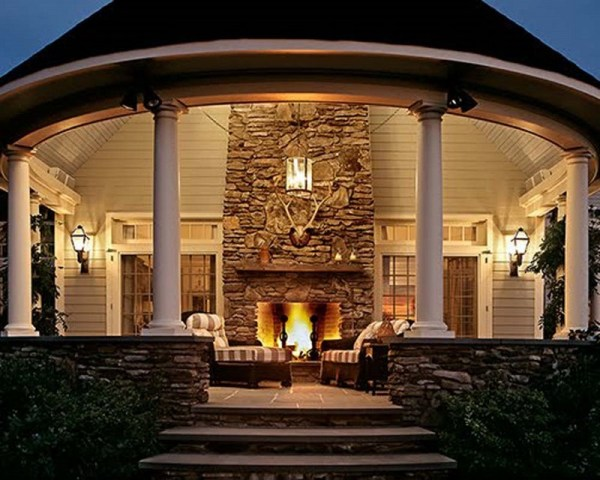outdoor patio rooms with fireplace Outdoor Rooms with Fireplaces (6355)