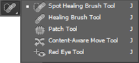 fungsi brush and patch tool photoshop