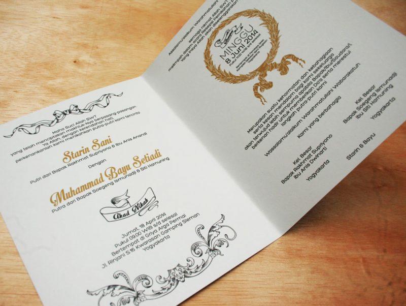 Jenis Kertas Undangan Pernikahan dan Contoh Desain Undangan