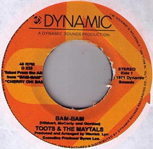 Toots and the Maytals Bam Bam