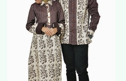 Busana Muslim Batik Couple