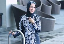 tutorial hijab berenang