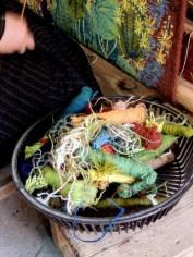Carpet weaving vertical loom wool