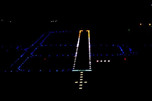 What are the blue lights at airports Quora