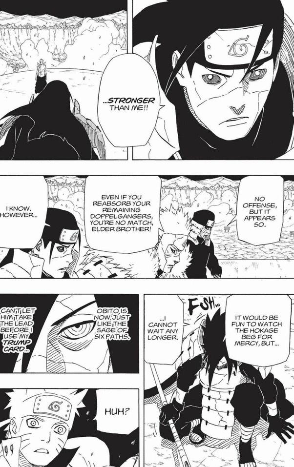 And take minato as weaker than hashirama based on this reason: Who would win, Hashirama or Obito Ten Tails? - Quora