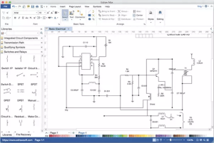 What is a free software for drawing electrical circuits on