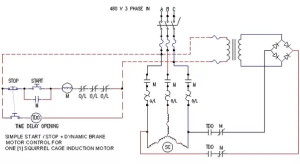 How do apply a brake in a 3 phase induction motor (3 wire