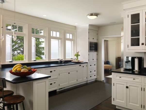 What is the best color combination for kitchen cabinets ... on What Color Cabinets With Black Granite Countertops  id=54862