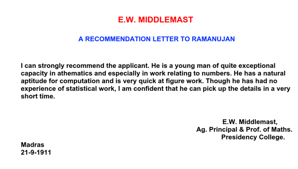 What Is The Best Letter Of Recommendation You Have Ever