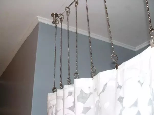 hang curtain rods from the ceiling quora