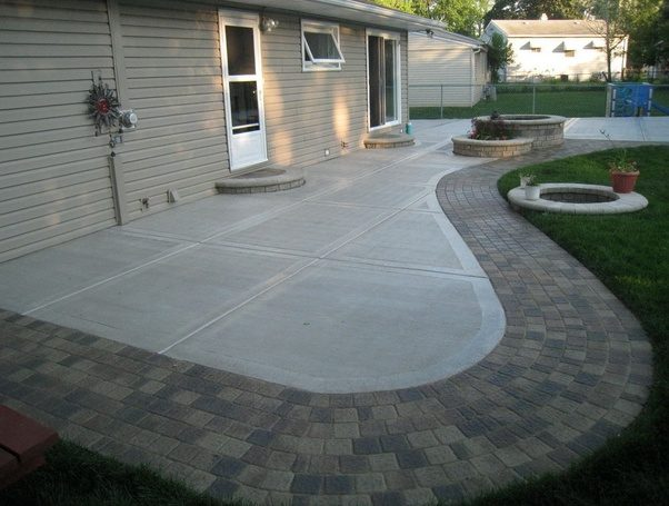 What's more economical, a wood deck or a cement patio? - Quora on Simple Concrete Patio Designs id=57362