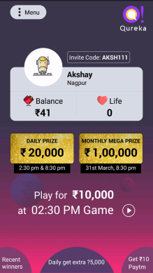 Which quiz app gives real money    Quora Start Playing the quiz show  and start investing your knowledge