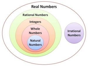 What are the different types of numbers in mathematics