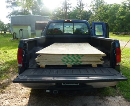 full size pick up truck bed