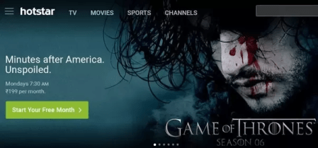How to watch Game of Thrones online in India   Quora Hotstar also offers previous six season  once you subscribe to the premium  Hotstar  it is to be noted that the user outside India cannot subscribe to  the